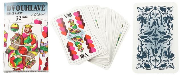 Maryášové karty dvouhlavé 32 kusů
