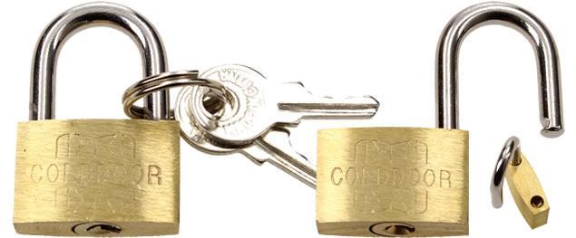 Malý bezpečnostní zámek s klíči 25 mm