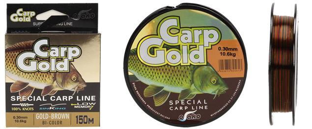 Carp Gold vlasec 0,30mm délka 150 m Bi-Color