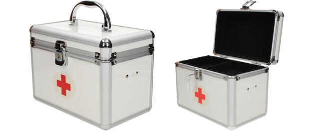 Kosmetický kufřík první pomoc zamykatelný
