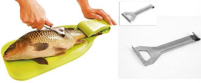 Škrabka na ryby nerez 12cm