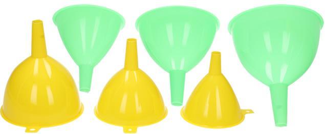 Trychtýře sada 3 kusy plast