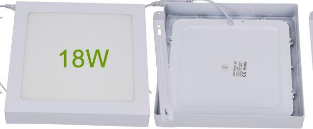 LED stropní panel 18W nezápustný čtvercový