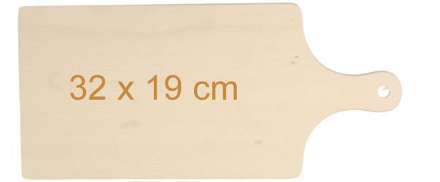 Krájecí prkénko dřevěné 32cm x 19cm s držadlem