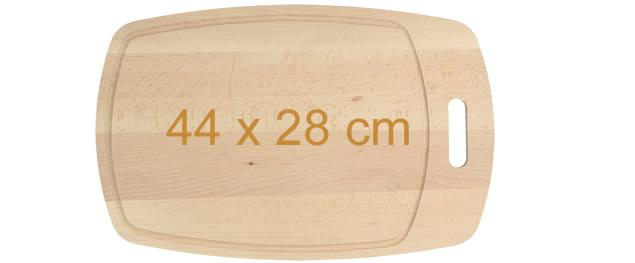Krájecí prkénko dřevěné 44cm x 28cm s drážkou a držadlem