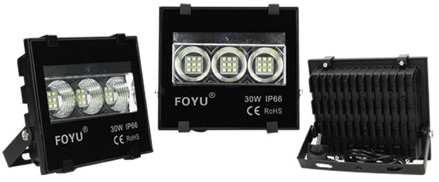 LED super výkonný reflektor FOYU 30W plochý
