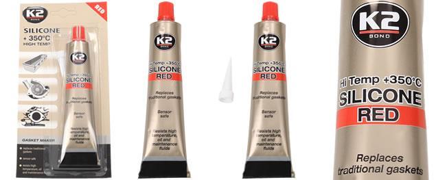 K2 SILICONE RED 85 g - silikon pro utěsnění části motoru