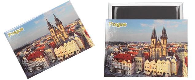 Praha Týnský chrám magnet 9 x 6,5 cm