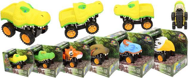 Autíčko na setrvačník Carro Animal