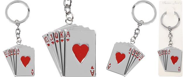 Kovová klíčenka ORIGINAL STYLE karty