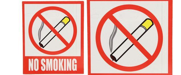 Reflexní samolepka NO SMOKING 12 x 10,5 cm