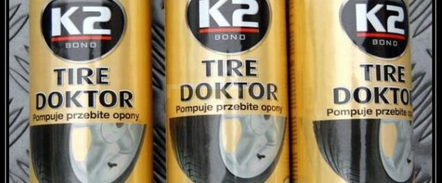 K2 TIRE DOKTOR - Sprej na opravu pneumatik